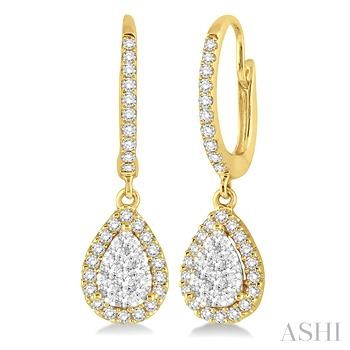 PEAR SHAPE LOVEBRIGHT DIAMOND EARRINGS