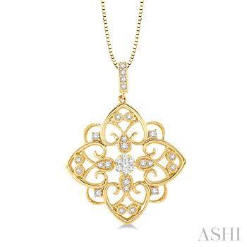 FLOWER SHAPE LOVEBRIGHT DIAMOND PENDANT