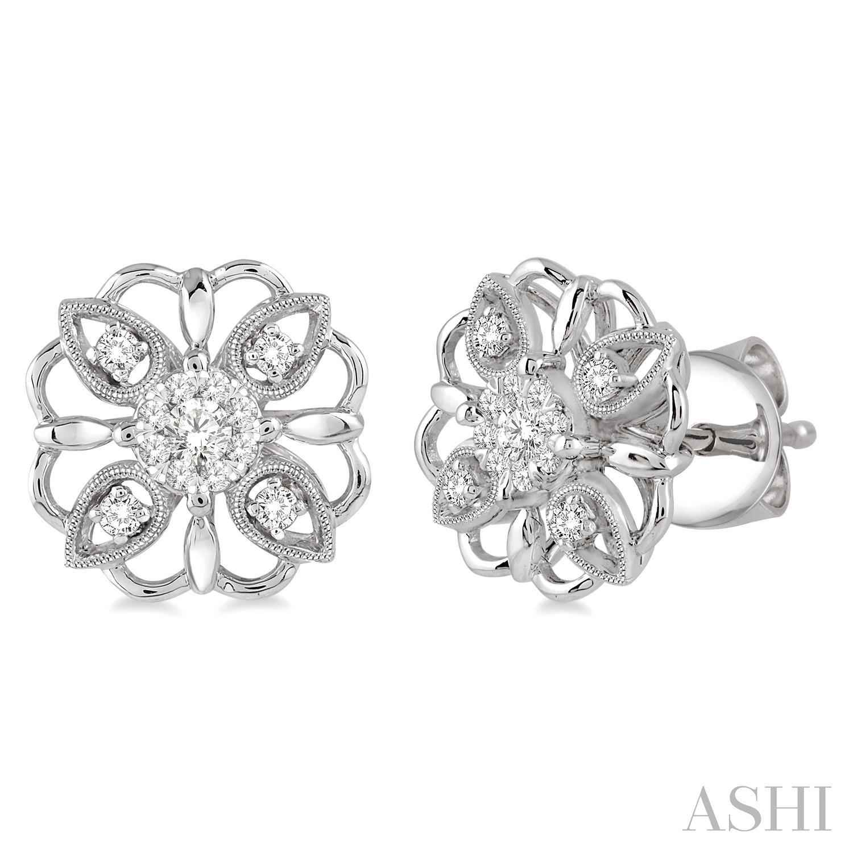 Flower Shape Lovebright Diamond Earrings