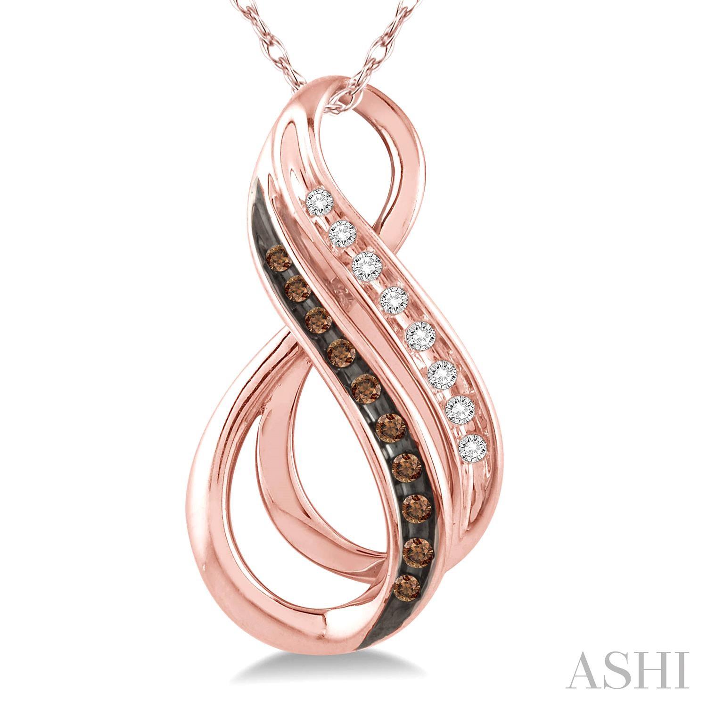 Infinity Champagne Diamond Pendant