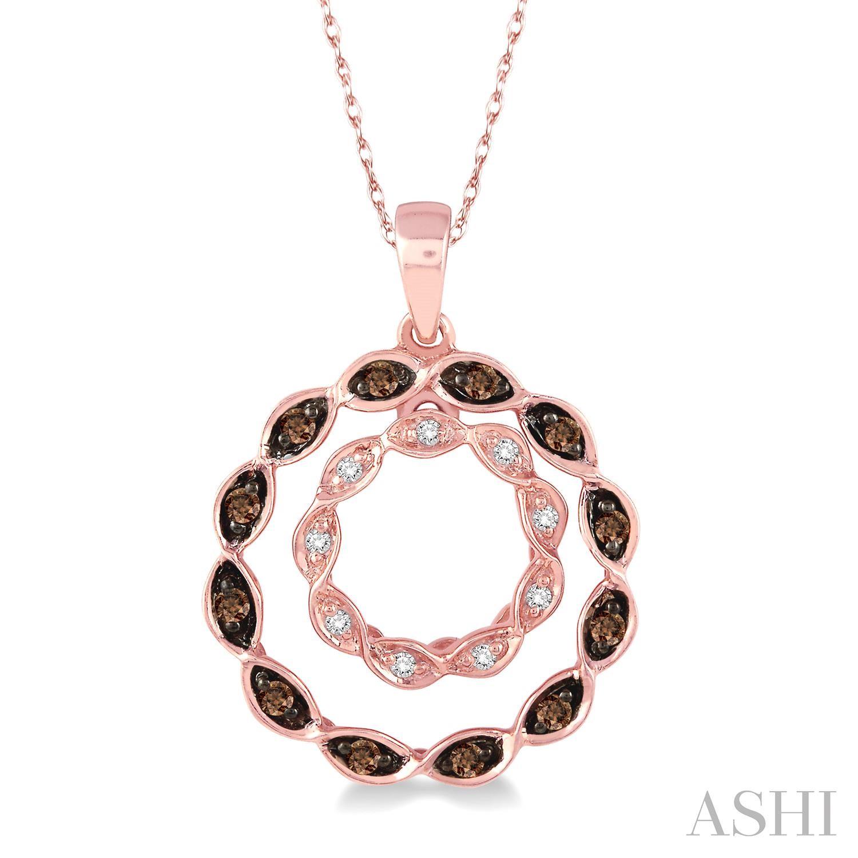 Circle Champagne Diamond Pendant