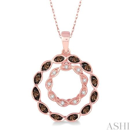 Circle Champagne Diamond Pendant