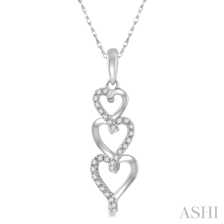 TRI HEART DIAMOND PENDANT