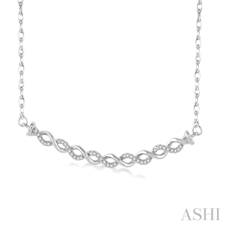 Twisted Infinity Diamond Pendant