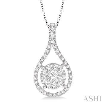 Pear Shape Lovebright Diamond Pendant