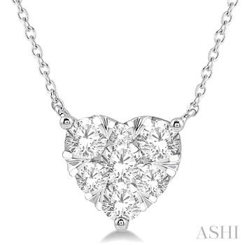 HEART SHAPE LOVEBRIGHT DIAMOND NECKLACE