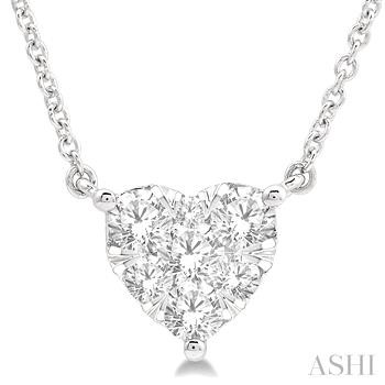 HEART LOVEBRIGHT DIAMOND NECKLACE