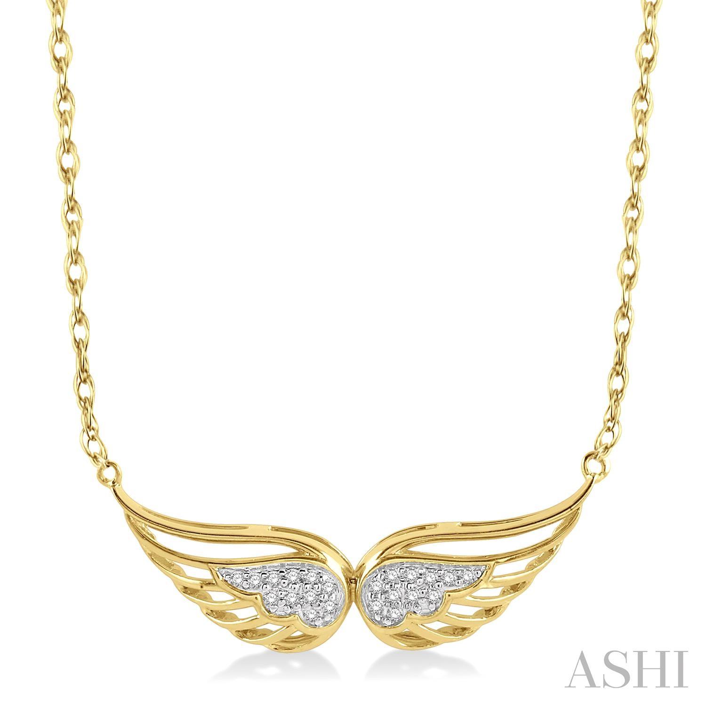 DIAMOND ANGEL WING NECKLACE