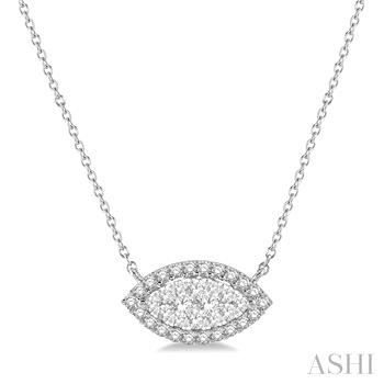 MARQUISE SHAPE LOVEBRIGHT DIAMOND NECKLACE