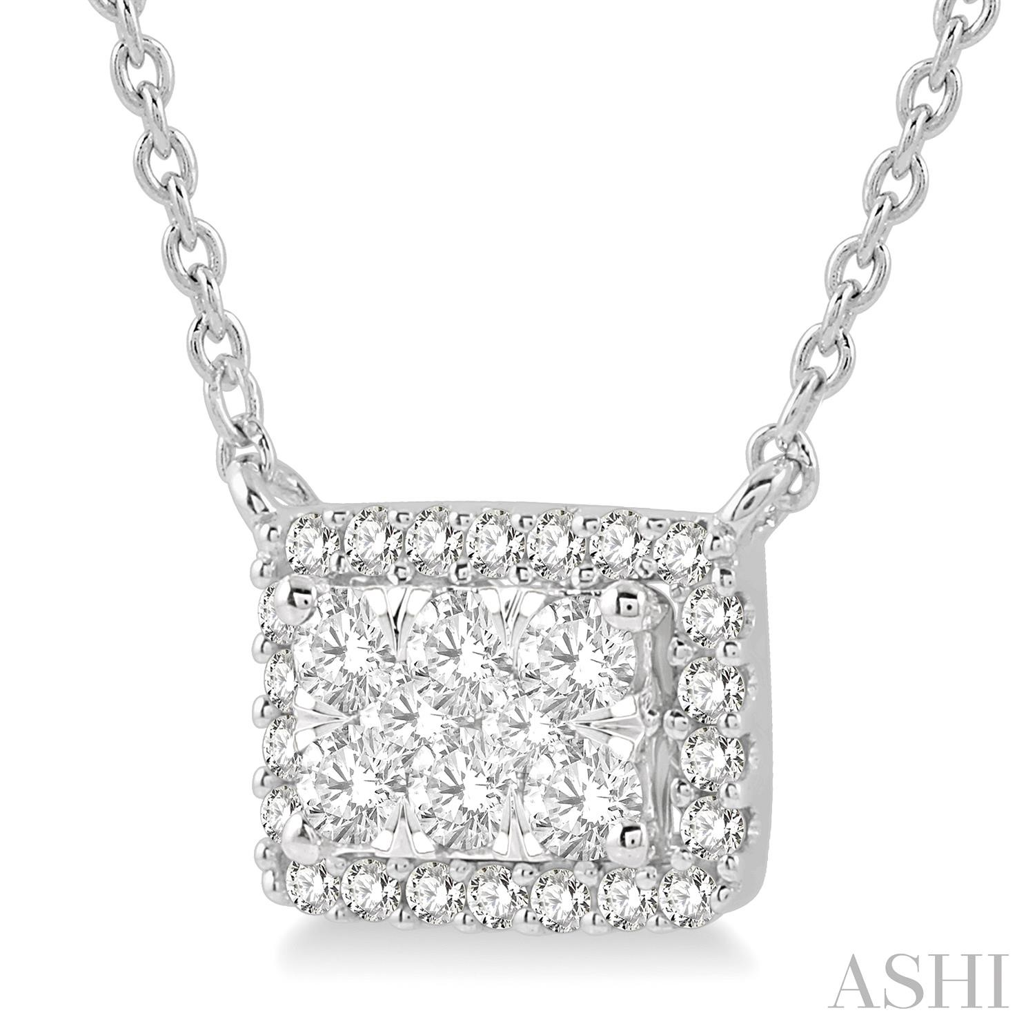 OCTAGON SHAPE LOVEBRIGHT DIAMOND NECKLACE