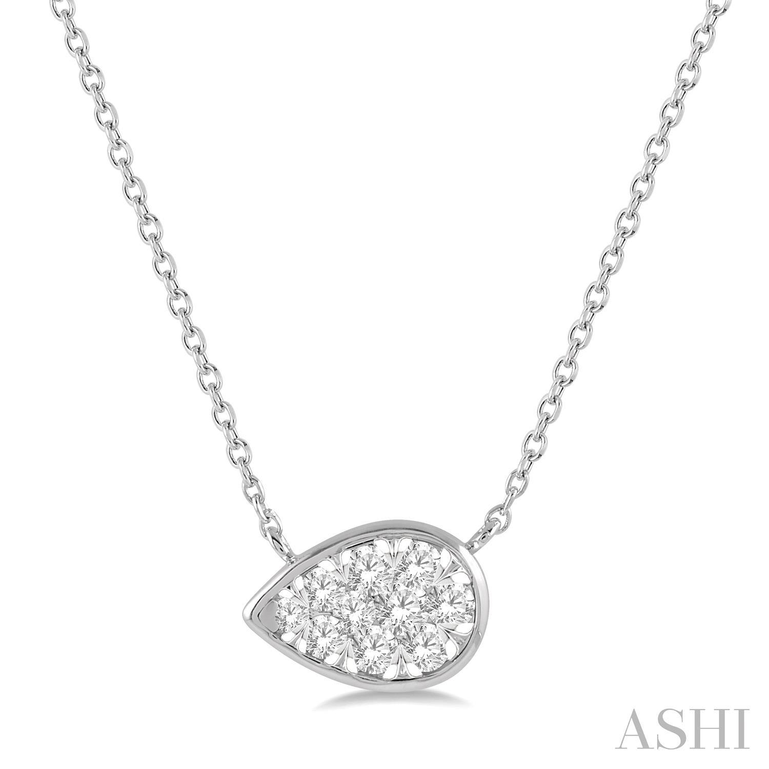 PEAR SHAPE LOVEBRIGHT ESSENTIAL DIAMOND NECKLACE