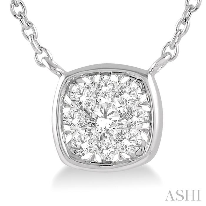 CUSHION SHAPE LOVEBRIGHT ESSENTIAL DIAMOND NECKLACE