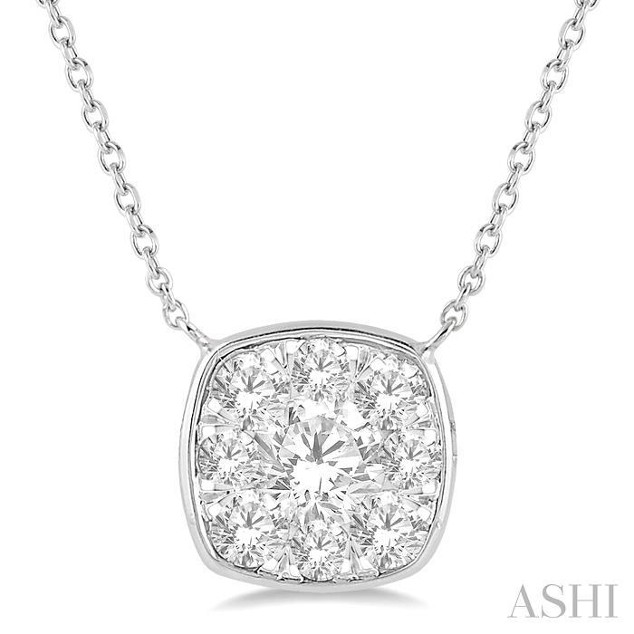CUSHION SHAPE LOVEBRIGHT ESSENTIAL DIAMOND NECKLACE