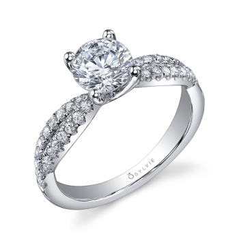 Modern Split Shank Engagement Ring