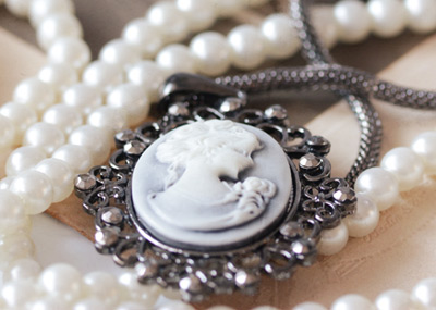 Pearl and Cameo Necklaces