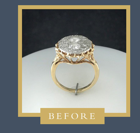 Gold and Diamond Ring Before Custom Redesign at D.J. Bitzan