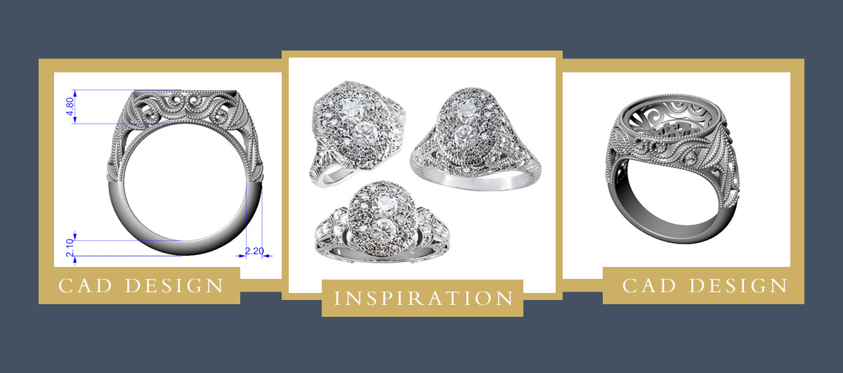 Custom Ring Redesign Process - CAD Design, Inspiration