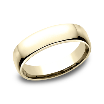 European Comfort-Fit Wedding Ring