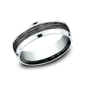 Ammara Stone Comfort-Fit Design Wedding Ring