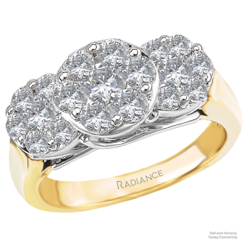 Cluster Two-Tone Diamond Ring