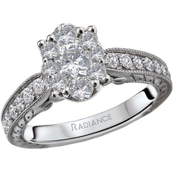 Diamond Cluster Bridal Ring