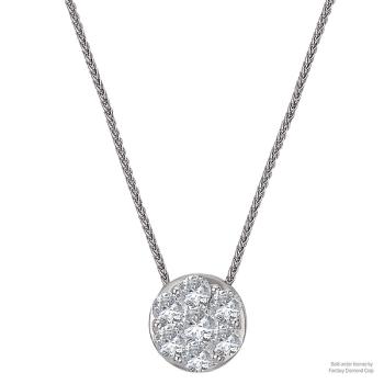 Radiance Halo Diamond Pendant