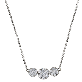 Diamond Cluster Fashion Necklace
