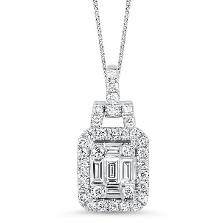 BAGUETTE DIAMOND PENDANT