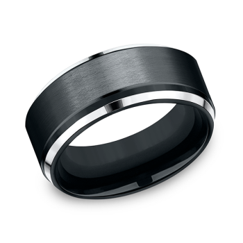 Cobalt Comfort-Fit Design Wedding Band