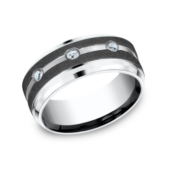 Cobalt Comfort-Fit Diamond Wedding Ring