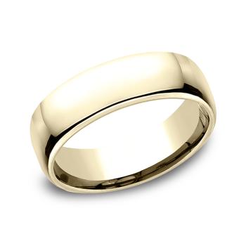 European Comfort-Fit Wedding Ring