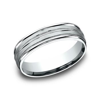 Comfort-Fit Design Wedding Ring