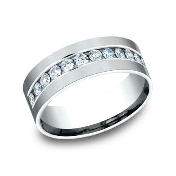 Comfort-Fit Diamond Wedding Band