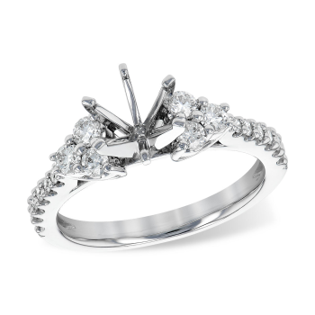 14KT Gold Semi-Mount Engagement Ring