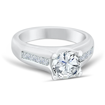 0.33ct, 14K semi-mount diamond engagement ring