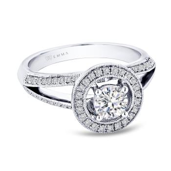 0.34CT, 14K Diamond Engagement Ring
