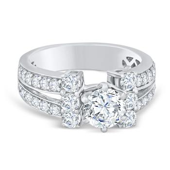 1.20ct, 14K semi-mount diamond engagement Ring