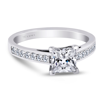 0.21CT, 14k Diamond Engagement Ring