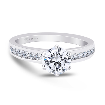 0.27CT, 14k Diamond Engagement Ring