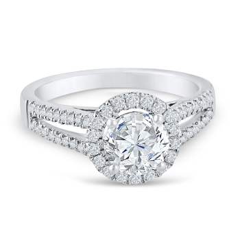 0.35CT, 14k Diamond Engagement Ring