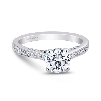 0.39CT, 14k Diamond Engagement Ring