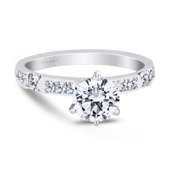 0.31CT, 14k Diamond Engagement Ring