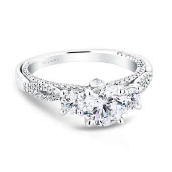 0.66ct, 14K and Diamond Engagement Ring