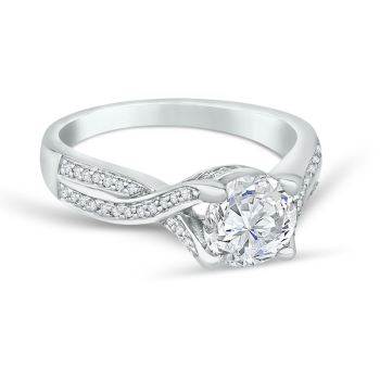 0.17ct, Semi-Mount Engagement Ring
