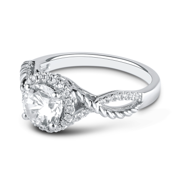 0.20CT, 14k Diamond Engagement Ring
