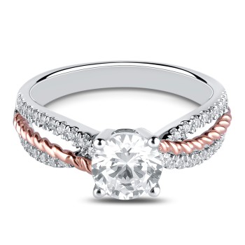 0.18CT, 14k Diamond Engagement Ring