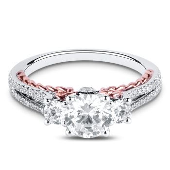 0.44CT, 14K Diamond Engagement Ring