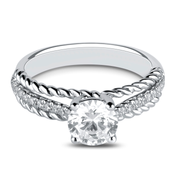 0.14CT, 14k Diamond Engagement Ring