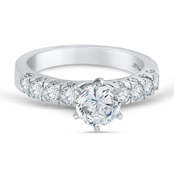 0.68ct, 14K semi-mount diamond engagement ring