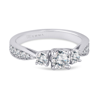 0.43CT, 14K Diamond Engagement Ring